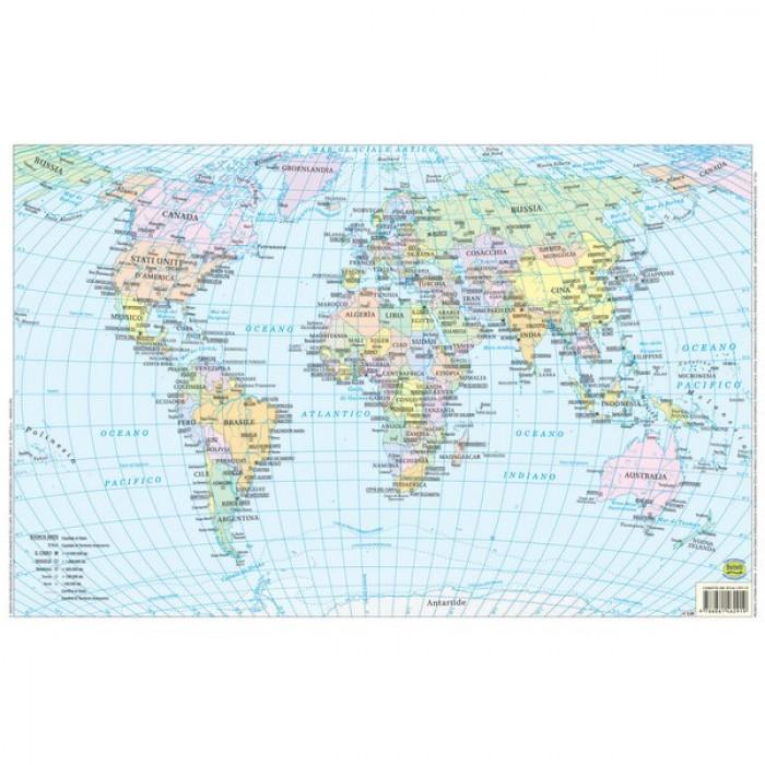 Cartina Politica Italia Formato A3.Cartina A3 Planisfero Mondo 1 800 000 Bs02p Accessori Mazzarella