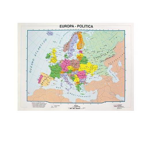 Cartina Europa.Cartine Geografiche 21x29 7 Europa Politica Fisica 09344 Accessori Mazzarella